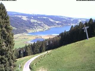 Webcam Alpsee Bergwelt - Blick von Bärenlift Talstation Richtung Großer Alpsee