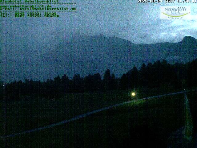 Webcam Richtung Oberstdorf mit Blick auf das Nebelhorn